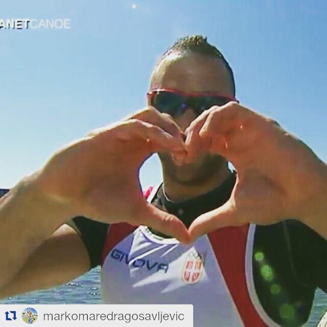Marko Dragosavljević osvojio zlatnu medalju u disciplini K-2 na Svetskom prvenstvu