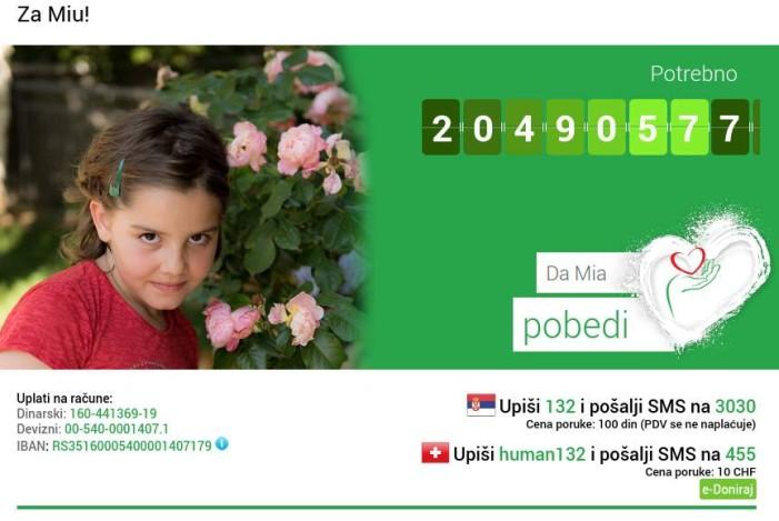 Pomoć za Miu – Mia Torbica treba transplataciju koštane srži