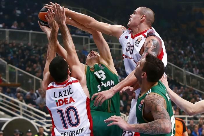 Košarkaši Crvene Zvezde pobedili veliki Panatinaikos u Atini sa 74:63