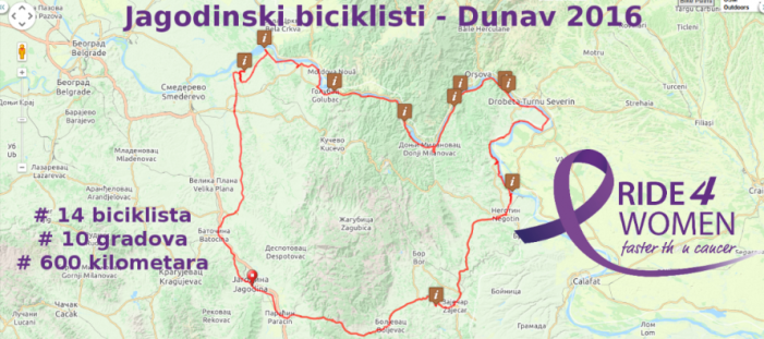 """Jagodinski biciklisti u akciji Ride4Women – """"Budi brža od kancera"""""""