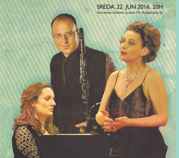 Klarinet, klavir i sopran u prostoru Fakulteta umetnosti u Nišu