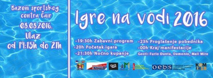 """""""Igre na vodi"""" na bazenima """"Čair"""", prva nagrada letovanje u Grčkoj"""