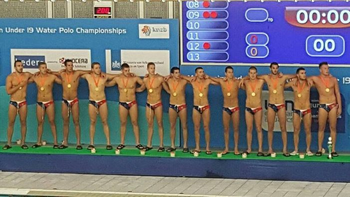 Juniorska vaterpolo reprezentacija Srbije osvojila zlato na EP u Holandiji