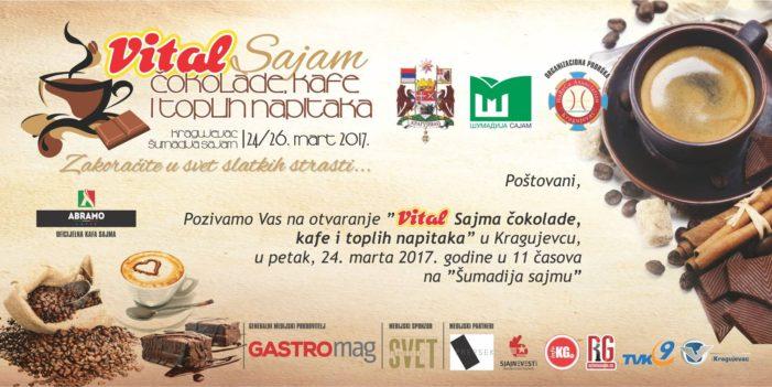 Uskoro sajam čokolade, kafe i toplih napitaka od 24. do 26. u Kragujevcu – Program i satnica